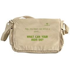 Irises / Pug Messenger Bag