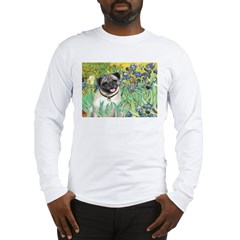 Irises / Pug Long Sleeve T-Shirt