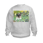 Irises / Pug Kids Sweatshirt