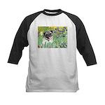 Irises / Pug Kids Baseball Jersey
