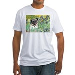 Irises / Pug Fitted T-Shirt