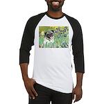 Irises / Pug Baseball Jersey