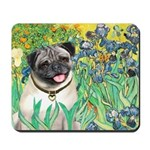 Irises / Pug Mousepad