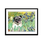 Irises / Pug Framed Panel Print