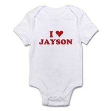 I LOVE JAYSON Infant Bodysuit