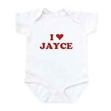 I LOVE JAYCE Infant Bodysuit