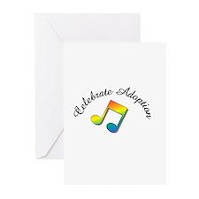 Celebrate Adoption rainbow music notes Greeting Ca