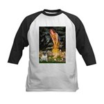 Fairies & Pug Kids Baseball Jersey