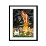 Fairies & Pug Framed Panel Print