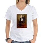 Lincoln's Pug Women's V-Neck T-Shirt