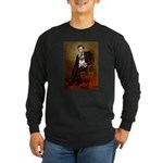 Lincoln's Pug Long Sleeve Dark T-Shirt