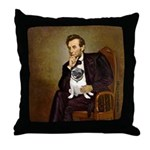 Lincoln's Pug Throw Pillow