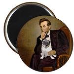Lincoln's Pug Magnet