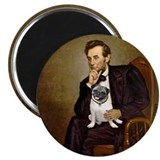 Lincoln's Pug Magnet