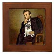 Lincoln's Pug Framed Tile