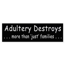 Adultery Destroys2 Bumper Bumper Sticker