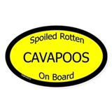 Spoiled Cavapoos On Board Oval Decal