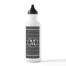 Gray Polka Dots Patter Water Bottle