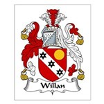 Willan Family Crest Small Poster