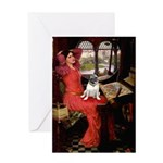 Lady / Pug Greeting Card