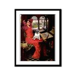 Lady / Pug Framed Panel Print