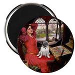 Lady / Pug Magnet