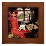 Lady / Pug Framed Tile