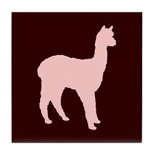 Alpaca (#2 in pink) Tile Coaster