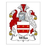 Wiles Family Crest Small Poster