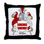 Wiles Family Crest Throw Pillow