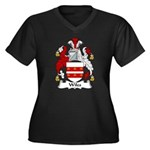 Wiles Family Crest Women's Plus Size V-Neck Dark T