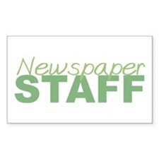 Newspaper Staff Rectangle Decal