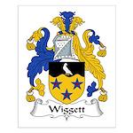 Wiggett Family Crest Small Poster