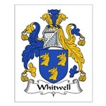 Whitwell Family Crest Small Poster