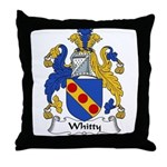 Whitty Family Crest Throw Pillow