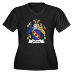 Whitty Family Crest Women's Plus Size V-Neck Dark