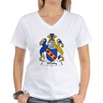 Whitty Family Crest Women's V-Neck T-Shirt
