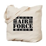 Proud Air Force Niece Tote Bag