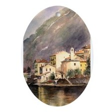 Lake Como Oval Ornament