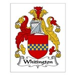 Whitington Family Crest Small Poster