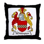 Whitington Family Crest Throw Pillow