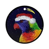 Christmas Nght Rainbow Lorikeet Christmas Ornament