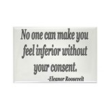 Eleanor Roosevelt Quote Rectangle Magnet