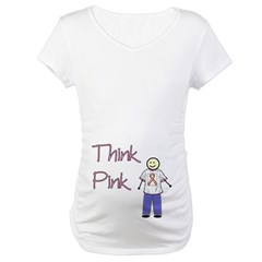 Scott Designs Think Pink Maternity T-Shirt