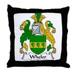 Wheler Family Crest Throw Pillow