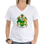 Wheler Family Crest Women's V-Neck T-Shirt