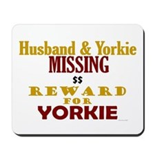 Husband & Yorkie Missing Mousepad