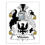 Weston Family Crest Small Poster