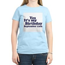 September 12th Birthday T-Shirt