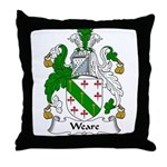 Weare Family Crest Throw Pillow